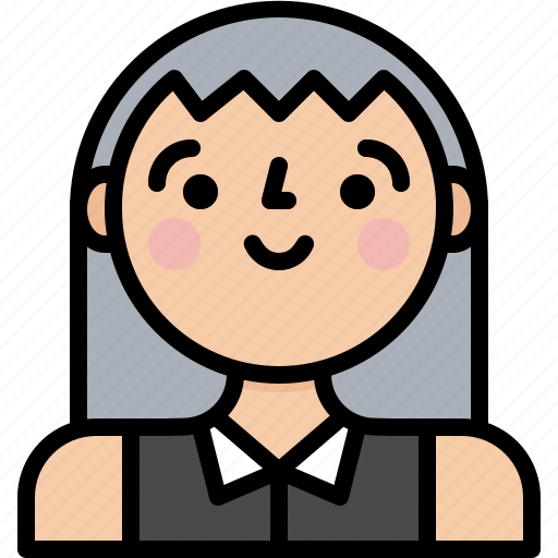 Female, girl, profile, woman icon - Download on Iconfinder