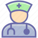 assistance, doctor, healthcare, human, medical, medical help, nurse, physician, stethoscope icon