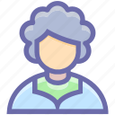adviser, avatar, grandma, grandmother, old, old lady, old woman, oldwoman, people, profile, woman icon
