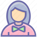 assistant, avatar, female, miss, miss female, personal assistant, secretary, support icon