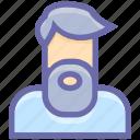 avatar, beard, farmer, man, old, people, profile, services, user icon