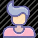 actor, avatar, boy, genius, herd, hero, male, man, nerd, star, user icon