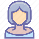 avatar, blonde, girl, lady, office woman, teacher, user, user blonde, woman icon