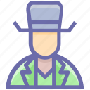 avatar, cowboy, hat, human, man, people, secretive, spy icon