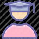 academician, educator, graduate, lecturer, master, professor, scholar, scholastic, student, tutor icon