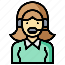 avatar, customer, occupation, profession, support, woman icon