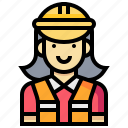 avatar, engineer, female, occupation, profession, woman icon