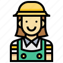 avatar, gardener, human, occupation, profession, woman icon