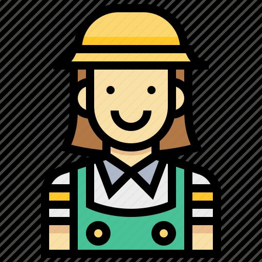 avatar, gardener, human, occupation, profession, woman icon