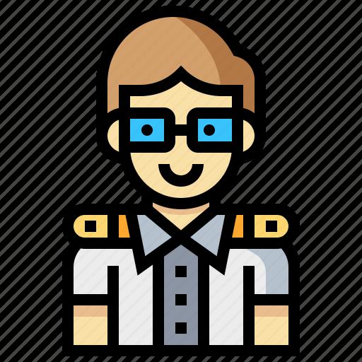 avatar, human, man, occupation, pilot, profession icon