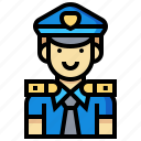 avatar, human, man, occupation, police, profession icon