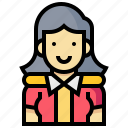 avatar, human, occupation, president, profession, woman icon