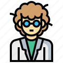 avatar, human, man, occupation, profession, scientist icon