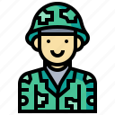 avatar, human, man, occupation, profession, soldier icon
