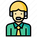 avatar, callcenter, human, man, occupation, profession icon