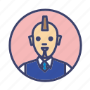 bald, bussinessman, man, punked