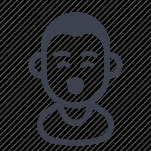 avatar, character, happy, man icon