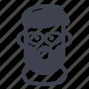 avatar, character, mustache, shagy