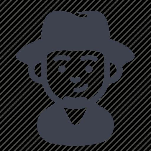 avatar, character, hat, man icon
