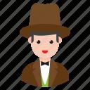 avatar, businessman, magician, male, person