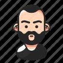 anger, avatar, beard, man