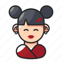 avatar, chinese, cute, woman icon