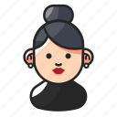 avatar, cute, old, woman icon