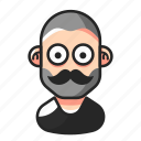 avatar, beard, man, mustache icon