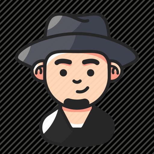 Avatar, beard, hat, man icon - Download on Iconfinder