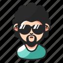 avatar, beard, curly, mustache icon