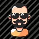 avatar, beard, cool, mustache icon
