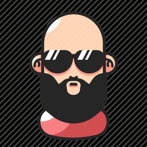 Avatar, bald, beard, man icon - Download on Iconfinder