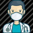 profile, corona virus, doctor, man, healthcare, hospital