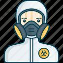 profile, doctor, gas mask, medical, health, virus, biohazard