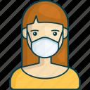 profile, woman, female, girl, corona virus, healthcare
