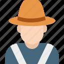 avatar, cowboy, farm, human, man icon