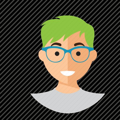 avatar, cute, man, nerd, staff, work icon