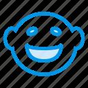 annoyedface, cartoon, cartoonface, comic, crazyface, joyfullface, smiling icon