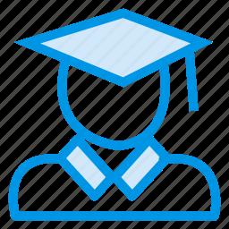 boy, graduation, reward, scholar, scholarship, student, success icon