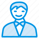 businessman, guard, immigration, male, man, officer, policeman icon
