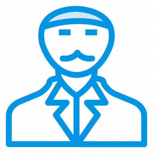 grandfather, male, old, oldpeople, pensioner, person, shopkeeper icon