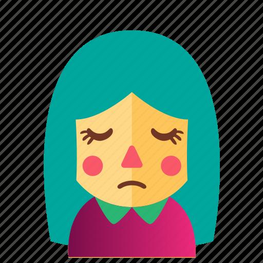 avatar, cute, doll, emoticon, girl, smile icon