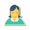 avatar, business, female, person, profile, user, woman icon