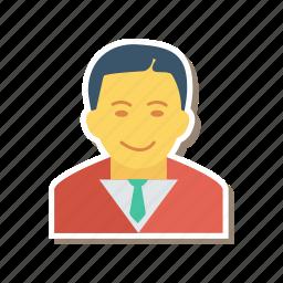 avatar, business, gental, man, person, profile, user icon