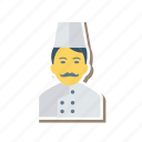 avatar, chef, cook, man, person, profile, user icon