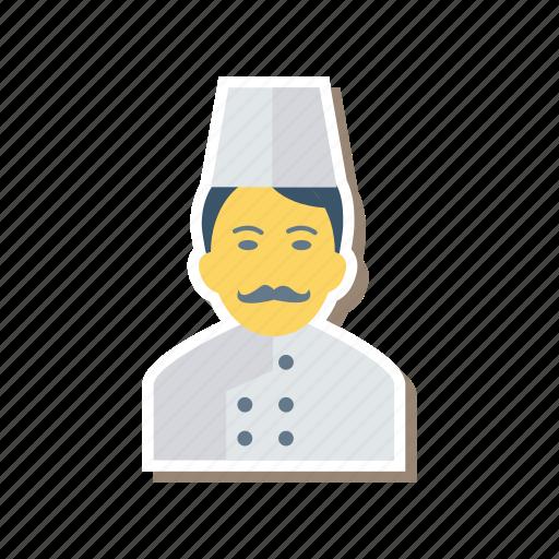 avatar, chef, cook, man, person, profile, user icon