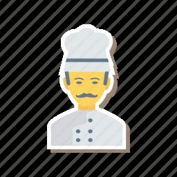 avatar, chef, cook, person, profile, user, worker icon