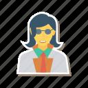avatar, fashion, female, glasses, person, profile, user