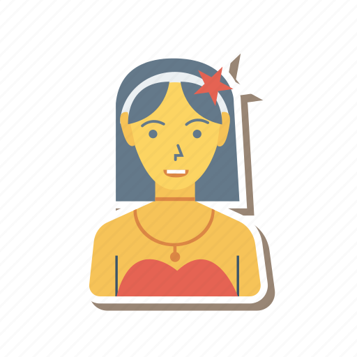 avatar, fashion, lady, person, profile, user, young icon