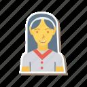 avatar, female, person, profile, receptionist, staff, user